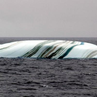 Multicolored striped iceberg